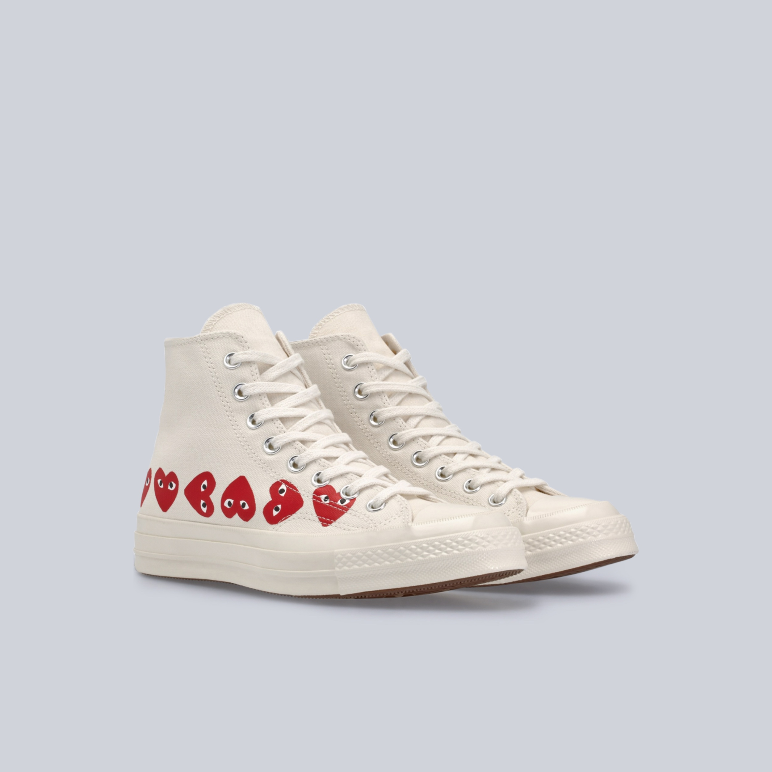 High top White sneakers Multi Red Heart