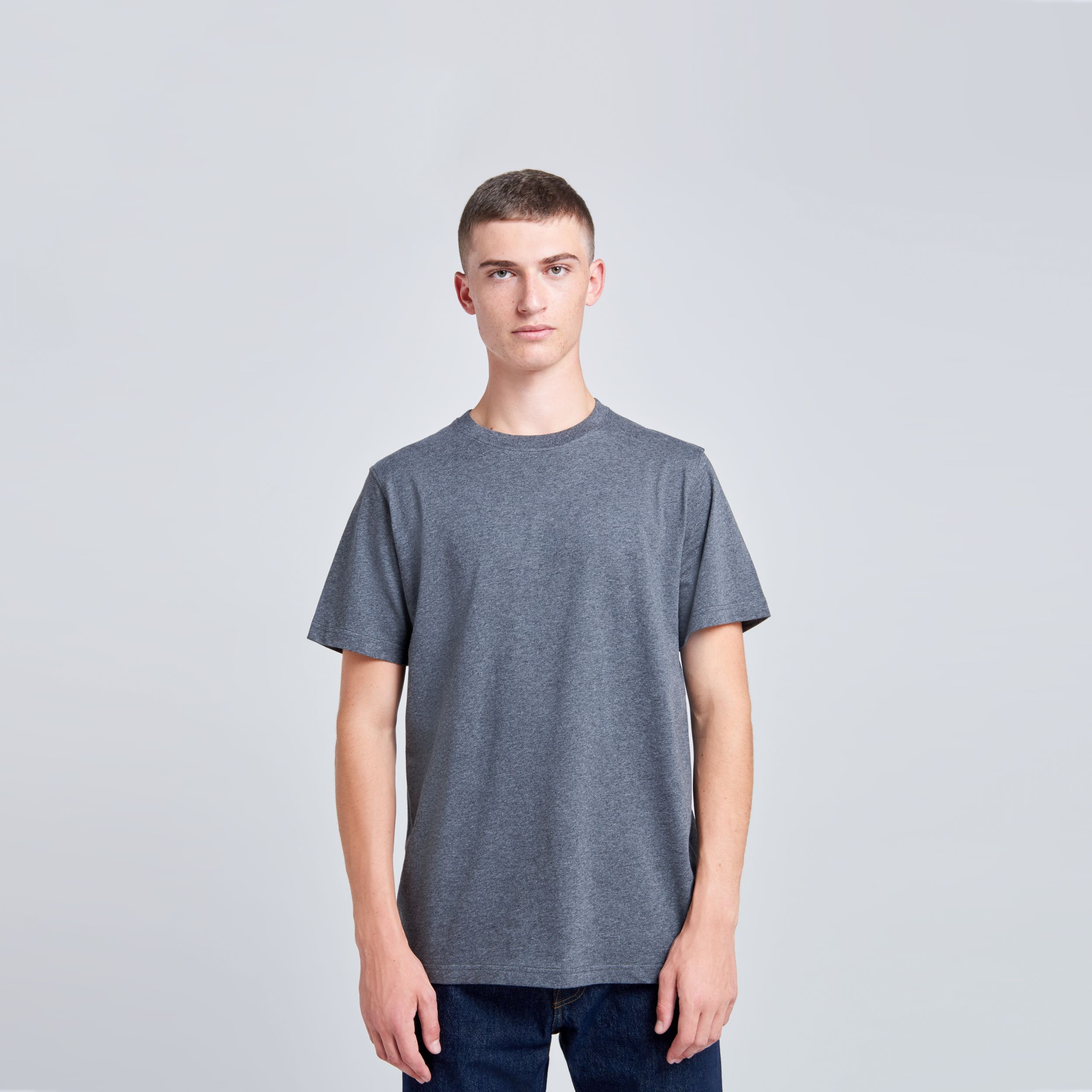 T-shirt manches courtes Niels standard Gris anthracite
